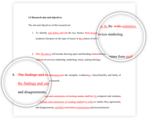 proofreading service example